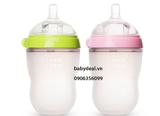 Bình sữa Comotomo cho bé, shop mẹ và bé, giá rẻ tại tp hcm