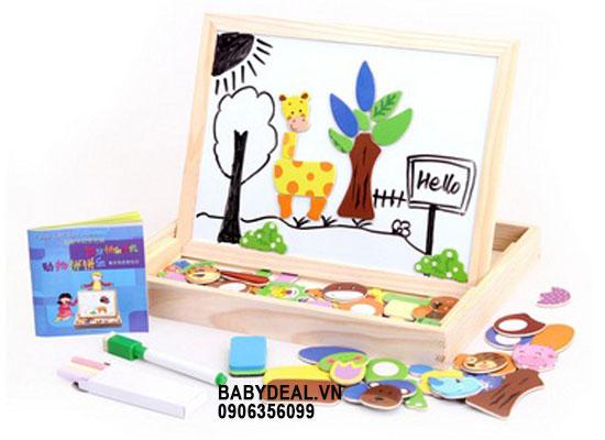Bảng Gỗ Kèm Tranh Cho Bé- Mẫu 1 cho bé, shop mẹ và bé, giá rẻ tại tp hcm