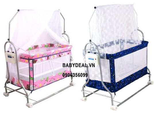Nôi Ru Tự Động Autoru (3 Sao) cho bé, shop mẹ và bé, giá rẻ tại tp hcm