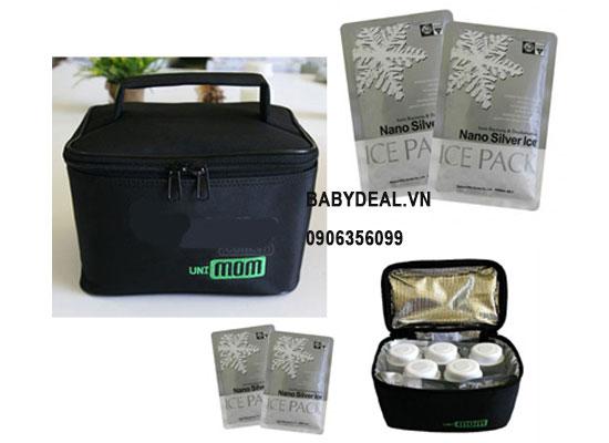 Túi Giữ Lạnh Sữa Unimom cho bé, shop mẹ và bé, giá rẻ tại tp hcm