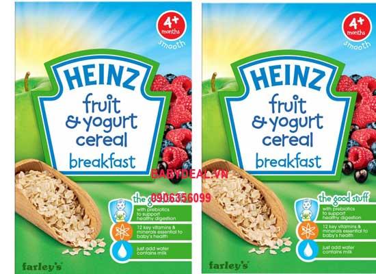 Bột Ăn Dặn Heinz - Ngũ Cốc Sữa Chua Trái Cây 4 Tháng