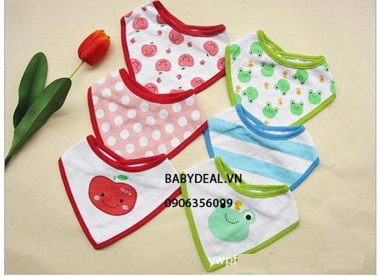 Set 3 Yếm Tam Giác Giữ Ấm Cổ Bé cho bé, shop mẹ và bé, giá rẻ tại tp hcm