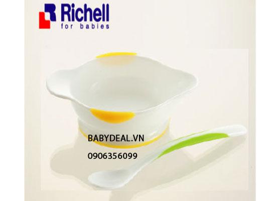 Bộ Chén Muỗng Ăn Dặm Richell cho bé, shop mẹ và bé, giá rẻ tại tp hcm
