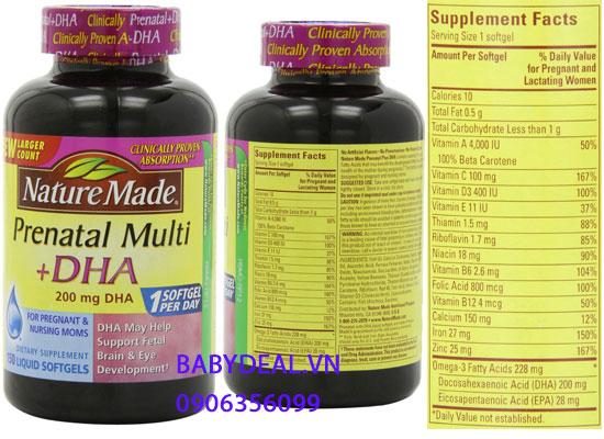 Viên Bổ Sung Vitamins và Khoáng Chất Cho Bà Bầu Prenatal cho bé, shop mẹ và bé, giá rẻ tại tp hcm