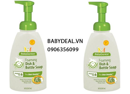 Nước Rửa Bình Sữa Babyganics (Mỹ)