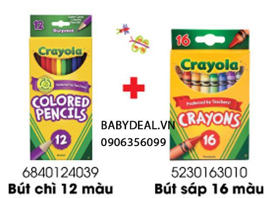 Bộ Sáp Màu + Chì Màu Crayola cho bé, shop mẹ và bé, giá rẻ tại tp hcm