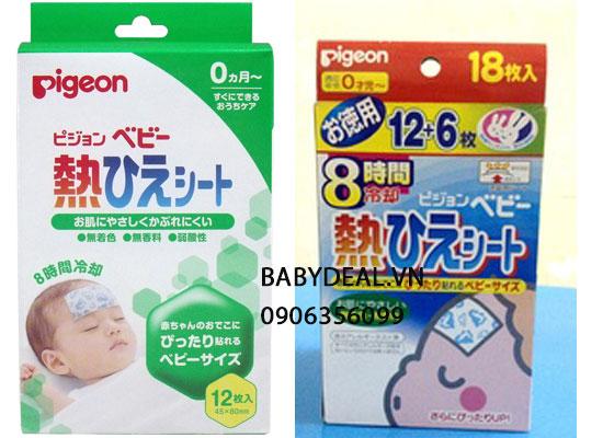 Miếng Dán Hạ Sốt Pigeon Hộp 12 Miếng cho bé, shop mẹ và bé, giá rẻ tại tp hcm