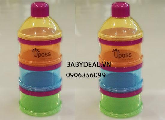 Hộp Chia Sữa Upass 3 Ngăn 8011C cho bé, shop mẹ và bé, giá rẻ tại tp hcm