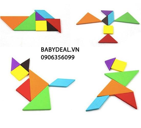 Ráp Hình Gỗ Thông Minh Cho Bé- Set 2 Bộ cho bé, shop mẹ và bé, giá rẻ tại tp hcm