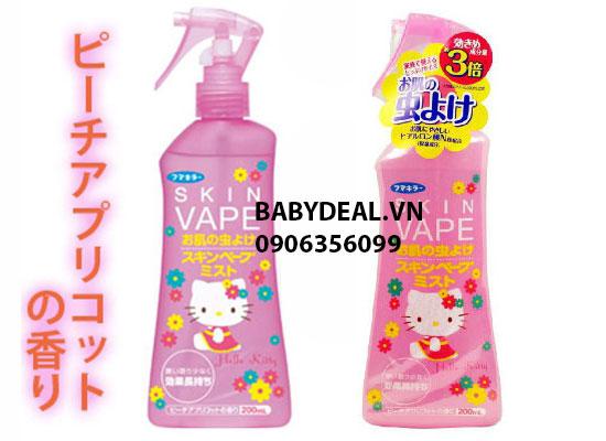 Xịt Chống Muỗi Hello Kitty Skin Vape 200ml cho bé, shop mẹ và bé, giá rẻ tại tp hcm