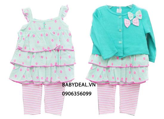 Bộ Áo Đầm, Quần và Áo Khoát Thái Lan cho bé, shop mẹ và bé, giá rẻ tại tp hcm