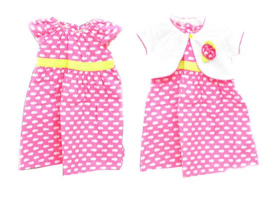 Áo Đầm Kèm Áo Khoát Ashley Cho Bé 3-9 Tháng Tuổi (Thái Lan)