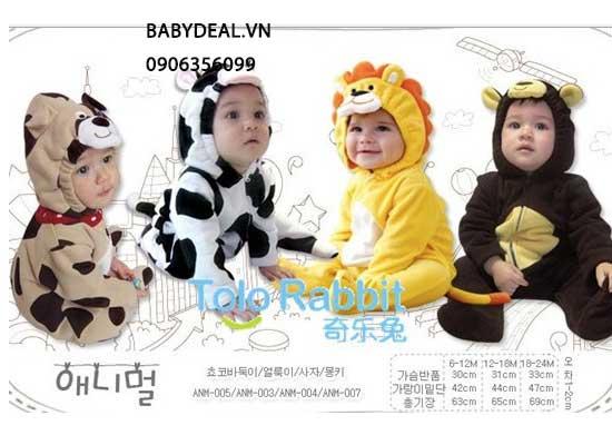 Đồ Hình Thú Cho Bé Từ 6-24 Tháng - Nhiều Mẫu cho bé, shop mẹ và bé, giá rẻ tại tp hcm