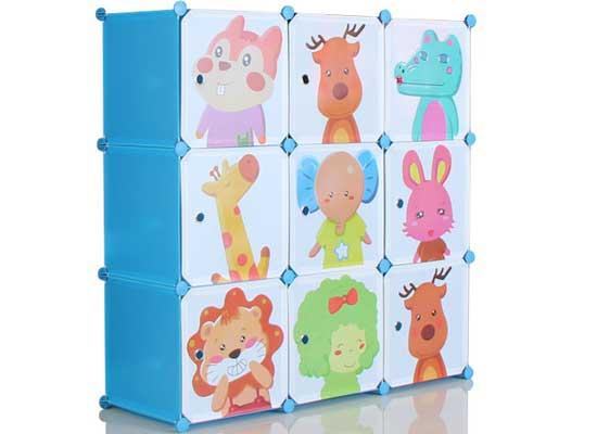 Tủ Ráp Thông Minh 9 Ngăn Cửa Hình Thú cho bé, shop mẹ và bé, giá rẻ tại tp hcm