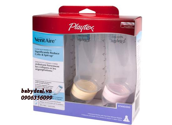 Bình Sữa Playtex - Set 3 Bình Cổ Thường 260ml (9oz)