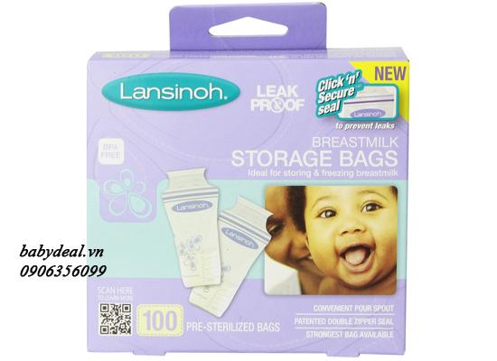 Túi Trữ Sữa Lansinoh - Hộp 100 Túi