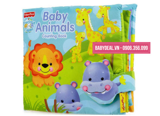 Sách Vải Fisher Price Animals