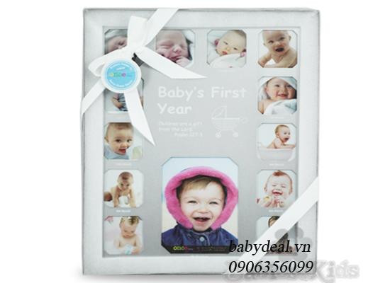 Khung Ảnh Baby First Year cho bé, shop mẹ và bé, giá rẻ tại tp hcm