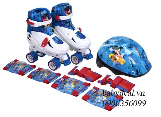 Bộ Giày Trượt Patin Kèm Mũ Và Bảo Hộ Disney