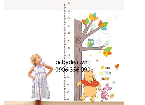 Thước Đo Chiều Cao Gấu Pooh cho bé, shop mẹ và bé, giá rẻ tại tp hcm