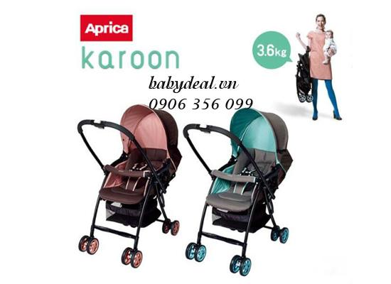 Xe Đẩy Aprica Karoon cho bé, shop mẹ và bé, giá rẻ tại tp hcm