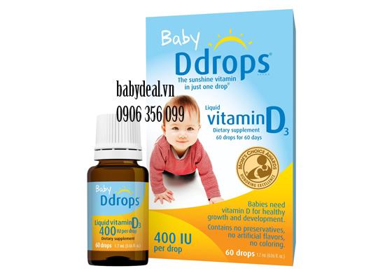 Baby Drops Vitamin D3 cho bé, shop mẹ và bé, giá rẻ tại tp hcm