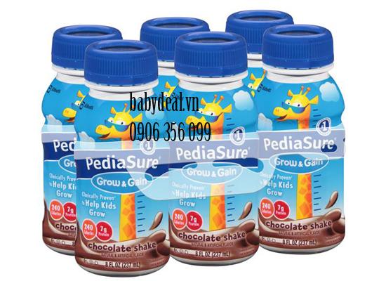 Sữa Nước PediaSure Mỹ Vị Socola cho bé, shop mẹ và bé, giá rẻ tại tp hcm