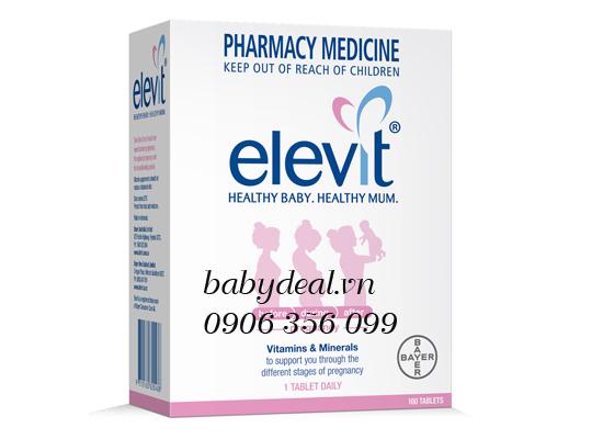 Thuốc Bổ Sung Vitamin Elevit Cho Bà Bầu cho bé, shop mẹ và bé, giá rẻ tại tp hcm