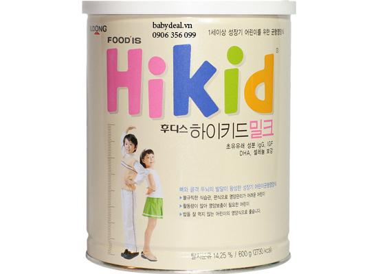 Sữa Hikid Vị Vani cho bé, shop mẹ và bé, giá rẻ tại tp hcm