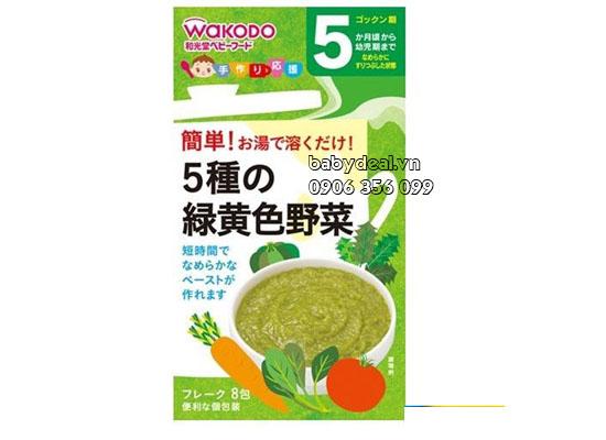 Bột Ăn Dặm Wakodo 5M+ Rau Củ Tổng hợp