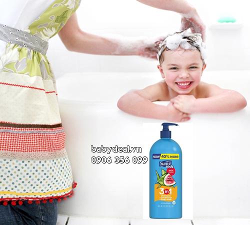 Sữa Tắm Gội Suave Kids 3 Trong 1 (1.18l)