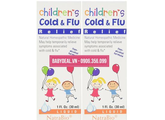 Thảo Dược Trị Cảm Cúm Children's Cold & Flu cho bé, shop mẹ và bé, giá rẻ tại tp hcm
