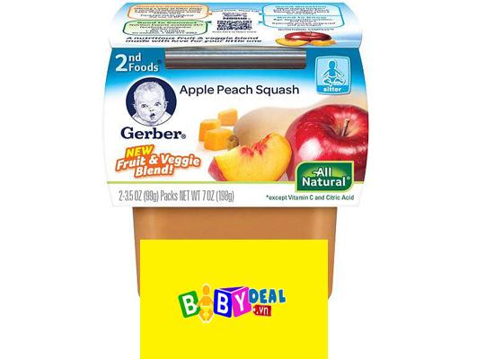 Trái Cây Và Rau Củ Nghiền Gerber-  Mỹ cho bé, shop mẹ và bé, giá rẻ tại tp hcm