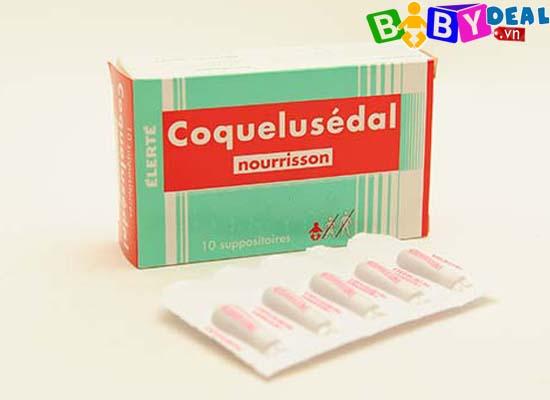 Viên đặt hậu môn Coquelusedal giảm ho, long đờm cho bé, shop mẹ và bé, giá rẻ tại tp hcm