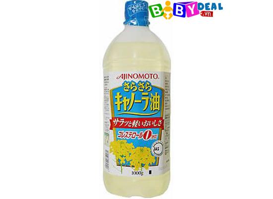 Dầu Ăn Hoa Cải Ajinomoto cho bé, shop mẹ và bé, giá rẻ tại tp hcm