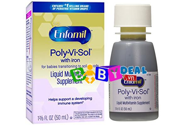 Thuốc Bổ Nhỏ Giọt Enfamil Poly-Vi-Sol Có Sắt- 50ml cho bé, shop mẹ và bé, giá rẻ tại tp hcm