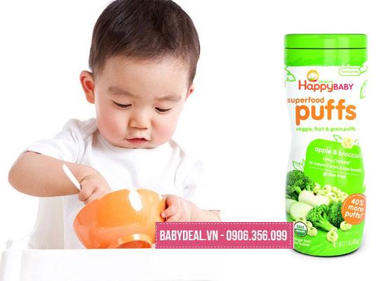 Bánh Ăn Dặm Organic Happy Baby 60gr cho bé, shop mẹ và bé, giá rẻ tại tp hcm