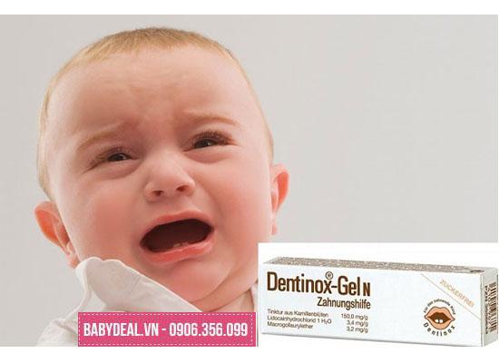 Gel Bôi Giảm Đau Cho Bé Mọc Răng Dentinox-Gel N 10g- Đức