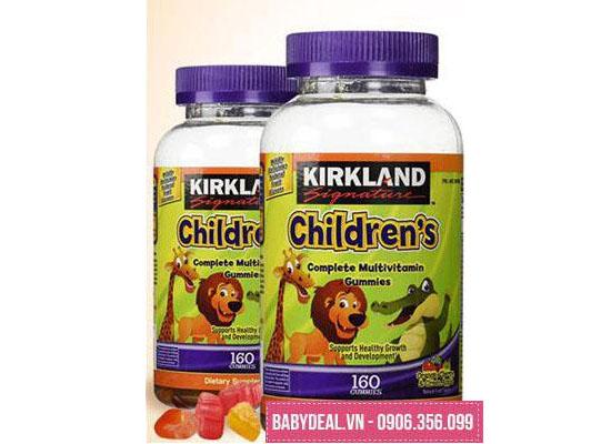 Kẹo Dẻo Bổ Sung Vitamin Cho Trẻ Em – Kirkland Signature Children's Complete Multivitamin 160 Viên cho bé, shop mẹ và bé, giá rẻ tại tp hcm