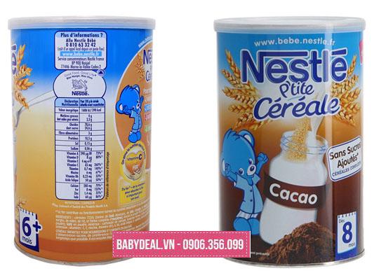 Bột Pha Lắc Sữa Cho Bé Nestle Pháp Đủ Vị