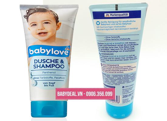 Sữa Tắm Gội Toàn Thân Dành Cho Bé BabyLove - Đức cho bé, shop mẹ và bé, giá rẻ tại tp hcm