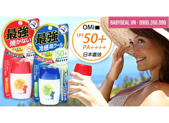 Kem Chống Nắng Omi Sun Bear SPF 50+ Nhật Bản