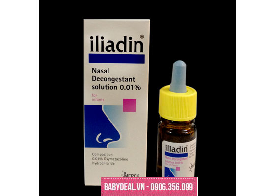 Thuốc nhỏ mũi Iliadin 0.01% (5ml) (0m+)